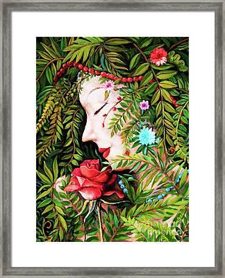 Framed Print featuring the painting Flora-da-vita by Igor Postash