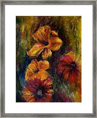 Flora Framed Print by Lou Ewers
