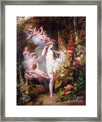 Flora Unveiled By Zephyrs Framed Print