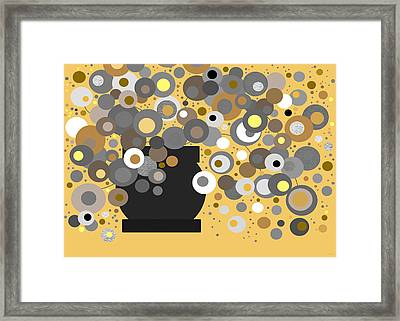 Flora - Yellow Framed Print by Val Arie