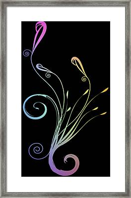 Floral 1 Framed Print by Evelyn Patrick