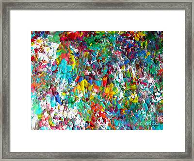 Floral Abstract 0715 Framed Print