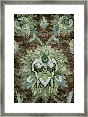 Floral Abstract Brown Tones Framed Print