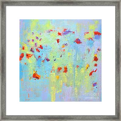 Floral Abstract Coloful Painting Framed Print by Patricia Awapara