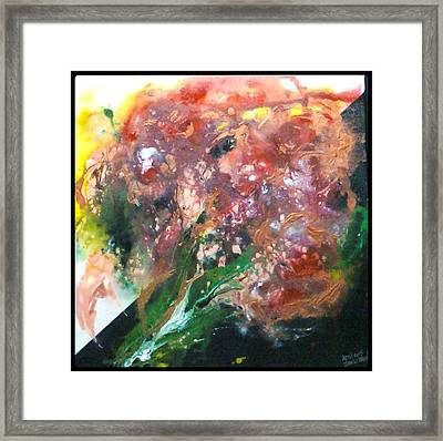 Floral Abstract Framed Print by Jan Wendt