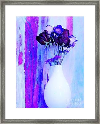 Floral Abstract Framed Print by Marsha Heiken