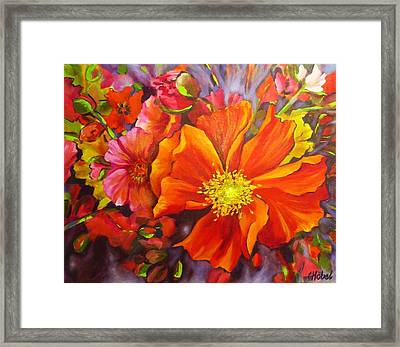 Framed Print featuring the painting Floral Abundance by Chris Hobel