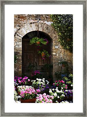 Floral Adorned Doorway Framed Print