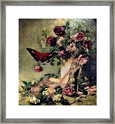 Floral And Lace 003 Framed Print