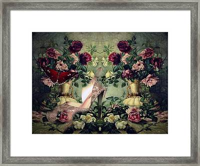 Floral And Lace 006 Framed Print