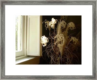 Floral Arrangement At Riverview Framed Print