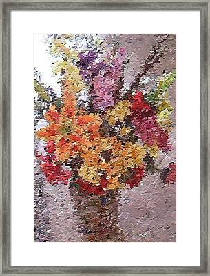 Floral Arrangement Framed Print by Don Phillips
