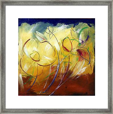 Floral Asbtract Framed Print by Mario Zampedroni