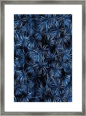 Floral Blue Abstract Framed Print by David Dehner