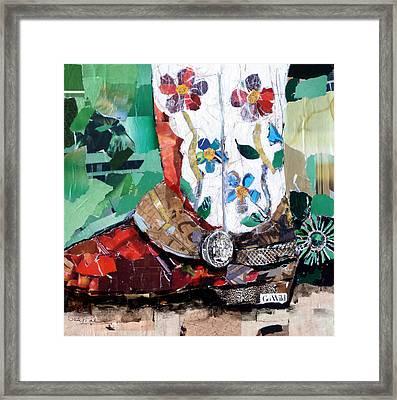 Floral Boot Framed Print