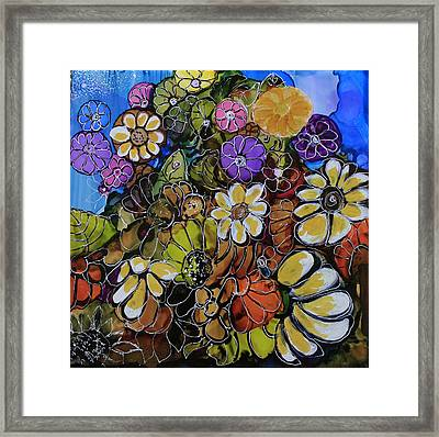 Floral Boquet Framed Print by Suzanne Canner