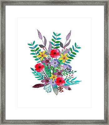 Floral Bouquet Framed Print by Amanda Lakey