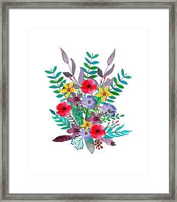 Just Flora Framed Print