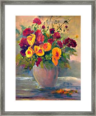 Floral Bouquet Framed Print by Jimmie Trotter