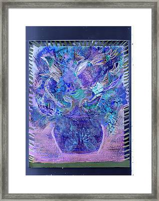 Floral Bouquet Purple  Framed Print by Anne-Elizabeth Whiteway
