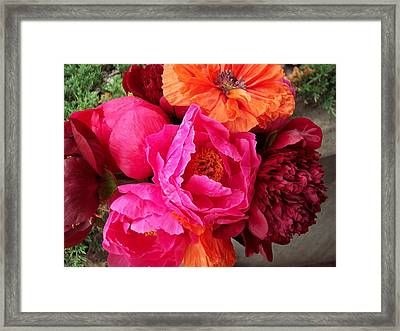 Floral Bouquet Framed Print by Rebecca Overton