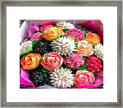 Floral Buffet Framed Print by Catherine Lott