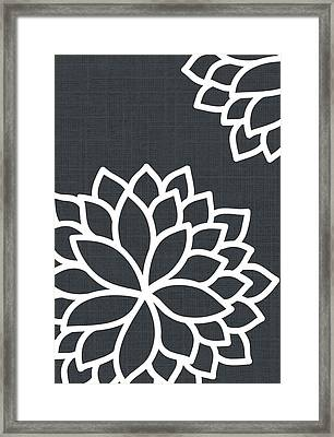 Floral Bursts Framed Print by Chastity Hoff