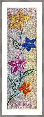 Floral Climber Framed Print
