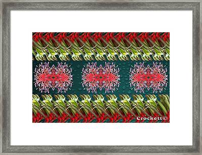 Floral Contemporary Art Framed Print