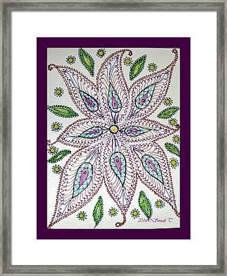 Floral Creativity Framed Print
