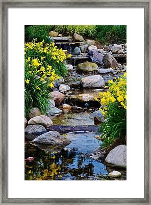Floral Creek Framed Print