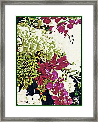 Floral Design 1 Framed Print by Sarah Loft