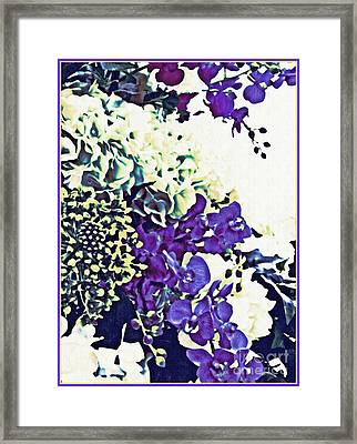 Floral Design 2 Framed Print by Sarah Loft