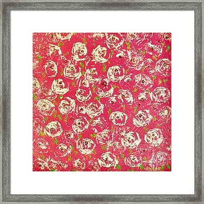 Framed Print featuring the painting Floral Design by Norma Duch