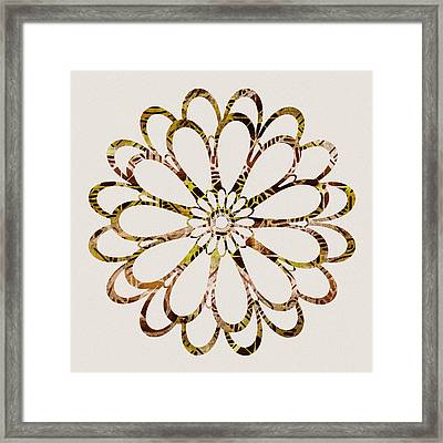 Floral Design Ornament Framed Print by Frank Tschakert