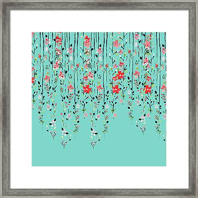Floral Dilemma Framed Print