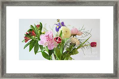 Framed Print featuring the photograph Floral Display by Wendy Wilton