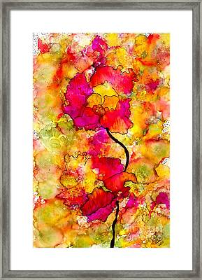 Floral Duet Framed Print by Angela L Walker