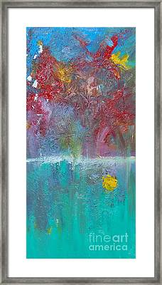 Floral Explosion Framed Print by Maria Curcic