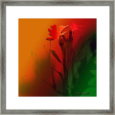 Floral Fantasy Framed Print by Asok Mukhopadhyay