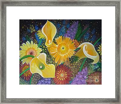 Floral Fireworks Framed Print