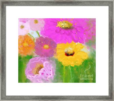 Floral Garden  Framed Print by Mira Dimitrijevic