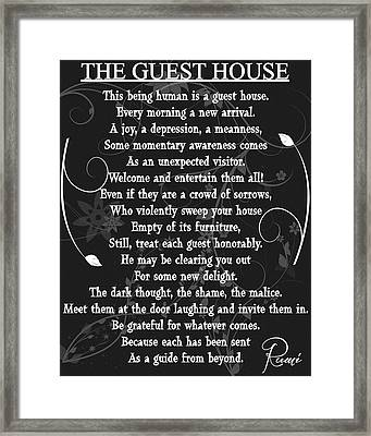 Floral Guest House Poem Framed Print by Dan Sproul