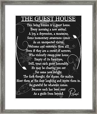 Floral Guest House Poem Framed Print