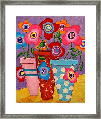 Floral Happiness Framed Print by John Blake