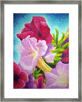 Floral In Pinks Framed Print