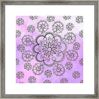 Floral Indie Mandala  Framed Print by Latex Color Design