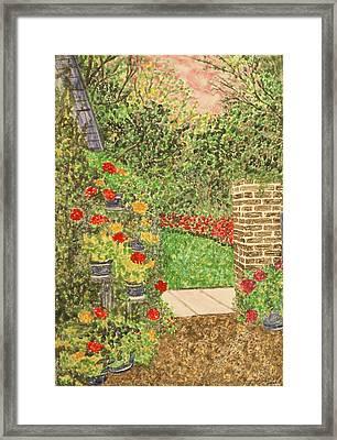Floral Jewels Framed Print