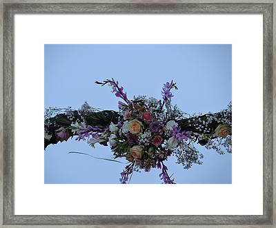 floral love in the Kenyan sky Framed Print