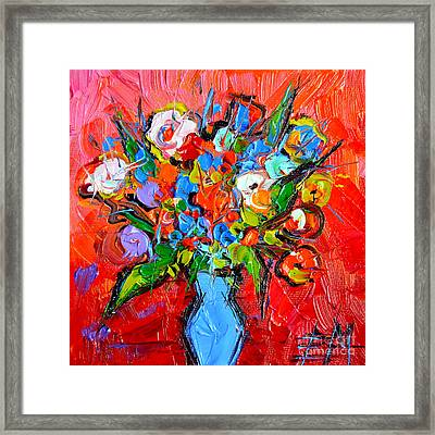 Floral Miniature - Abstract 0115 Framed Print